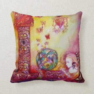 GARDEN OF THE LOST SHADOWS, FAERY AND BUTTERFLIES THROW PILLOW