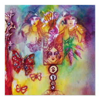 GARDEN OF THE LOST SHADOWS,FAIRIES AND BUTTERFLIES CARD
