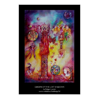 GARDEN OF THE LOST SHADOWS,FAIRIES AND BUTTERFLIES POSTER