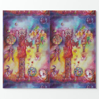 GARDEN OF THE LOST SHADOWS,FAIRIES AND BUTTERFLIES WRAPPING PAPER