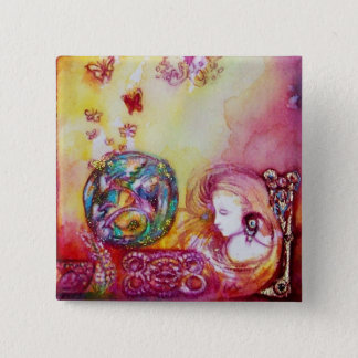 GARDEN OF THE LOST SHADOWS -FAIRY AND BUTTERFLIES PINBACK BUTTON