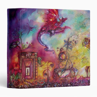 GARDEN OF THE LOST SHADOWS -FLYING RED DRAGON 3 RING BINDER