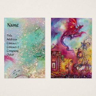GARDEN OF THE LOST SHADOWS, FLYING RED DRAGON Blue Business Card
