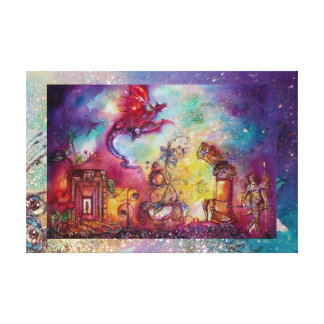 GARDEN OF THE LOST SHADOWS FLYING RED DRAGON CANVAS PRINT