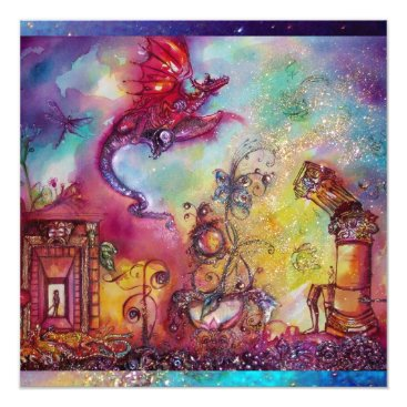 Halloween Themed GARDEN OF THE LOST SHADOWS -FLYING RED DRAGON CARD
