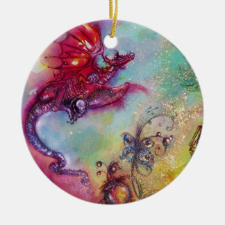GARDEN OF THE LOST SHADOWS- FLYING RED DRAGON CERAMIC ORNAMENT