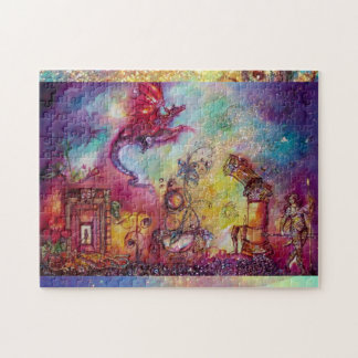 GARDEN OF THE LOST SHADOWS, FLYING RED DRAGON JIGSAW PUZZLE