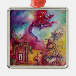 GARDEN OF THE LOST SHADOWS- FLYING RED DRAGON METAL ORNAMENT