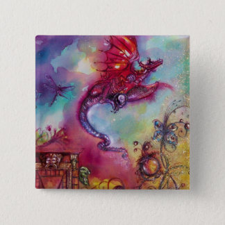 GARDEN OF THE LOST SHADOWS -FLYING RED DRAGON PINBACK BUTTON