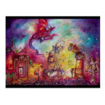 GARDEN OF THE LOST SHADOWS -FLYING RED DRAGON POSTCARD