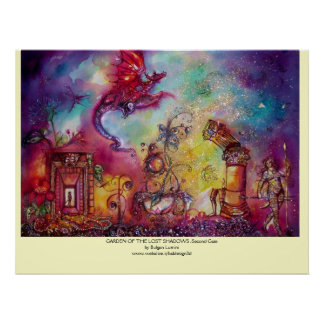 GARDEN OF THE LOST SHADOWS -FLYING RED DRAGON POSTER