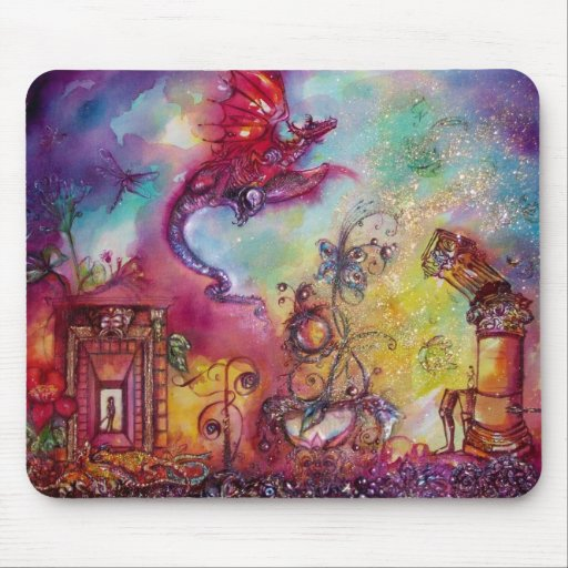 GARDEN OF THE LOST SHADOWS -FLYING RED RAGON MOUSE PAD