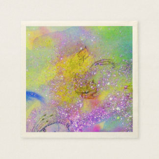 GARDEN OF THE LOST SHADOWS Green Yellow Purple Paper Napkin
