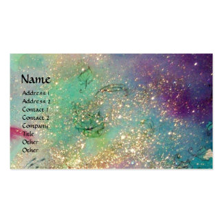 GARDEN OF THE LOST SHADOWS / KNIGHT AND FAIRY teal Business Card