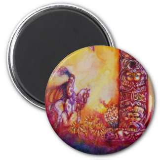 GARDEN OF THE LOST SHADOWS  / KNIGHT AND HORSE MAGNET