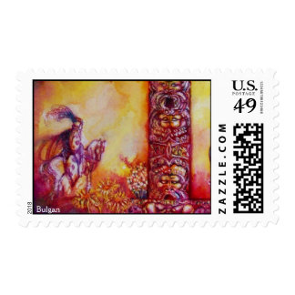 GARDEN OF THE LOST SHADOWS,KNIGHT AND HORSE STAMPS