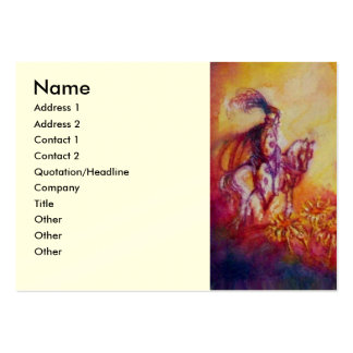 GARDEN OF THE LOST SHADOWS,KNIGHT,HORSE,RED DRAGON LARGE BUSINESS CARDS (Pack OF 100)