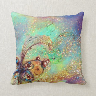 GARDEN OF THE LOST SHADOWS -MAGIC BUTTERFLY PLANT THROW PILLOW