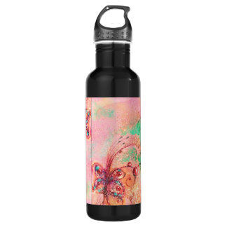 GARDEN OF THE LOST SHADOWS -MAGIC BUTTERFLY PLANT STAINLESS STEEL WATER BOTTLE