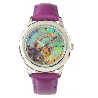 GARDEN OF THE LOST SHADOWS,MAGIC BUTTERFLY PLANT WRISTWATCH