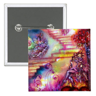 GARDEN OF THE LOST SHADOWS -MYSTIC STAIRS 2 INCH SQUARE BUTTON