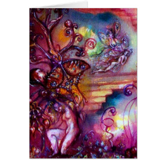 GARDEN OF THE LOST SHADOWS / MYSTIC STAIRS GREETING CARD