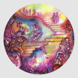 GARDEN OF THE LOST SHADOWS / MYSTIC STAIRS CLASSIC ROUND STICKER