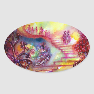 GARDEN OF THE LOST SHADOWS / MYSTIC STAIRS OVAL STICKER