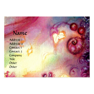 GARDEN OF THE LOST SHADOWS ,MYSTIC STAIRS pink red Large Business Card