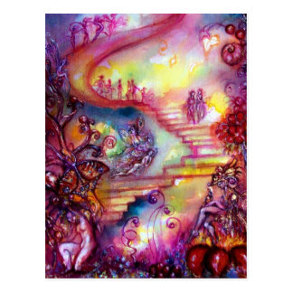 GARDEN OF THE LOST SHADOWS / MYSTIC STAIRS POSTCARD