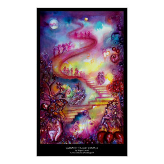 GARDEN OF THE LOST SHADOWS -MYSTIC STAIRS POSTER