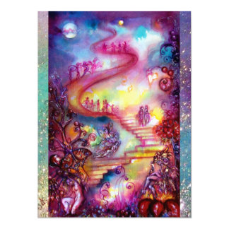 GARDEN OF THE LOST SHADOWS,MYSTIC STAIRS Tea lBlue Card