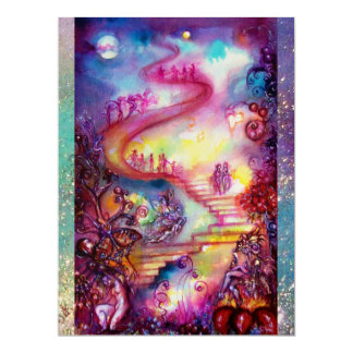 GARDEN OF THE LOST SHADOWS,MYSTIC STAIRS Teal Blue Card