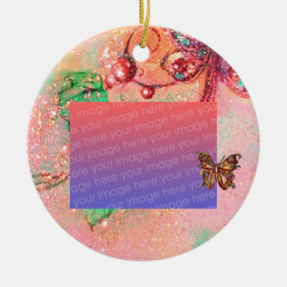 GARDEN OF THE LOST SHADOWS Pink Photo Template Ornament