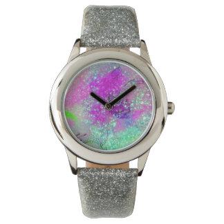 GARDEN OF THE LOST SHADOWS - Pink Purple Aqua Blue Watch