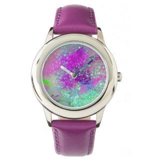 GARDEN OF THE LOST SHADOWS - Pink Purple Aqua Blue Watch