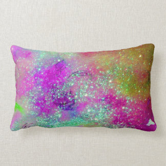GARDEN OF THE LOST SHADOWS -pink purple violet Lumbar Pillow