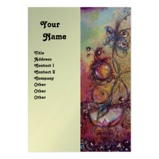 GARDEN OF THE LOST SHADOWS Platinum Metallic Large Business Card