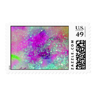 GARDEN OF THE LOST SHADOWS Purple Blue Sparkles Postage