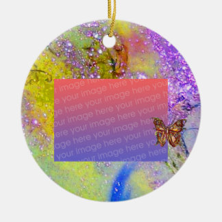 GARDEN OF THE LOST SHADOWS Purple Photo Template Christmas Tree Ornaments