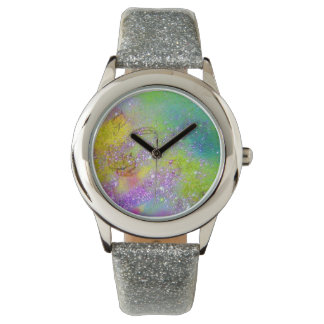 GARDEN OF THE LOST SHADOWS -  Purple Yellow Green Wrist Watch
