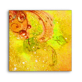 GARDEN OF THE LOST SHADOWS yellow brown green Envelope