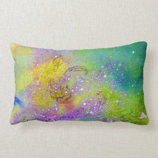 GARDEN OF THE LOST SHADOWS -yellow, purple violet Lumbar Pillow
