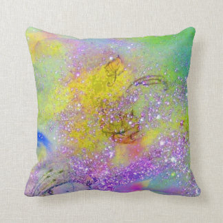 GARDEN OF THE LOST SHADOWS -yellow, purple violet Pillows