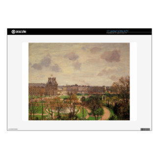 """Garden of the Louvre Morning, Grey Weather Skins For 15"""" Laptops"""