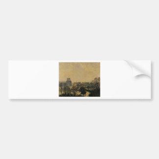 Garden of the Louvre Snow Effect Camille Pissarro Bumper Sticker