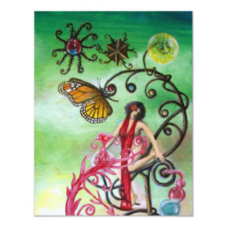 GARDEN OF THE MELISSA 2,  red ,pink green white Card