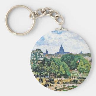 Garden of the Princess Claude Monet  fine art Basic Round Button Keychain