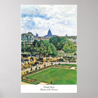 Garden of the Princess Claude Monet  fine art Poster