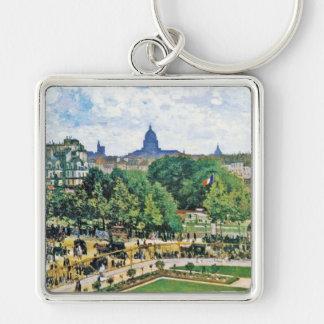 Garden of the Princess Claude Monet  fine art Silver-Colored Square Keychain